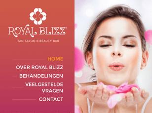 grafisch ontwerp website royal blizz tan salon and beauty bar - studio 10am