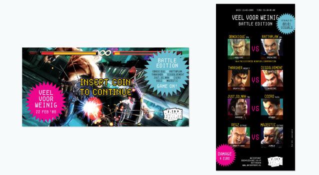 Ontwerp voor flyer Veel voor Weinig - Battle Edition