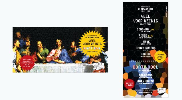 Ontwerp flyer voor Veel voor Weinig - De Paas editie