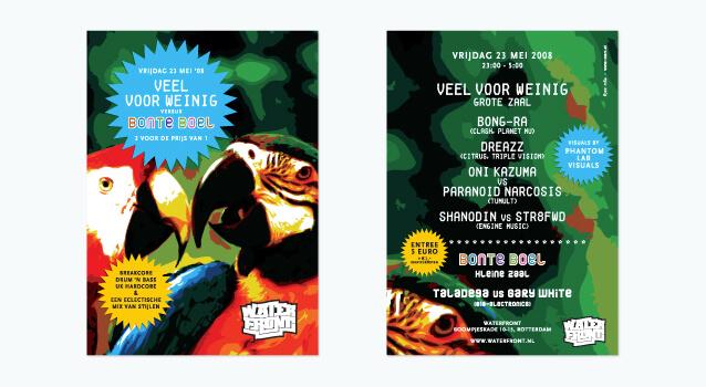Ontwerp flyer voor Veel voor Weinig - Bonte Boel editie