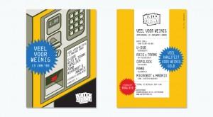 Ontwerp flyer voor derde editie Veel voor Weinig