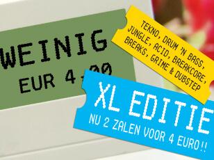 Ontwerp voor flyers voor Veel voor Weinig in Waterfront