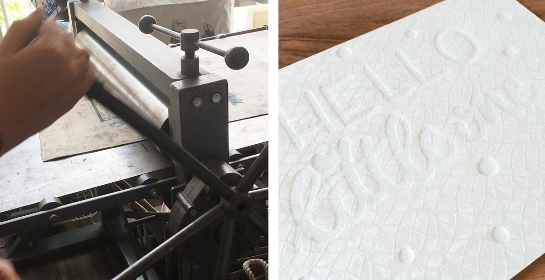 Workshop letterpress - drukken zonder inkt